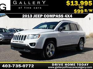 2013 Jeep Compass 4X4 North $99 bi-weekly APPLY NOW DRIVE NOW