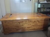 Laura Ashley wooden coffee table with 12 draws and opens for storage