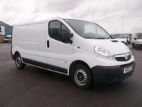 Vauxhall Vivaro 2900 2.0 CDTI 115PS H1 LWB VAN DIESEL MANUAL WHITE (2013)