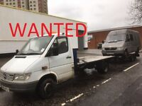 MERCEDES SPRINTER VAN WANTED ANY YEAR