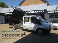 2013 Ford Transit T350 2.2TDCi Double Cab Tipper E/Windows Diesel white Manual