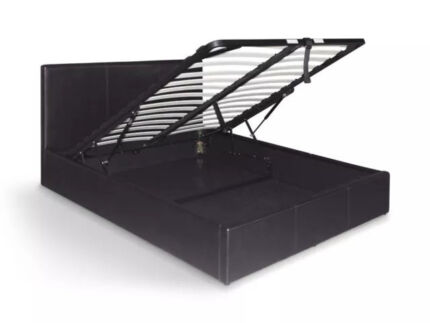 Brand New PU Leather Double/Queen Gas Lift Storage Bed Frame