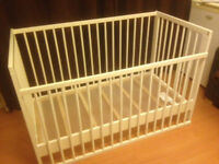 Ikea GULLIVER Baby Cot (used, excellent condition)