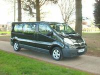 Vauxhall vivaro 9 seat lwb minibus combi air con alloys electrics