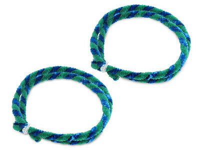 Nabenputzringe Set Putzringe 2x 56cm grün/blau für Simson Moped, Mokick