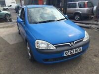 2002 Vauxhall Corsa, starts and drives well, MOT until March 2017, car located in Gravesend Kent, lo