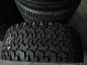 LT305/55R20 SINGLE ONLY USED BF GOODRICH ALL TERRAIN TIRE