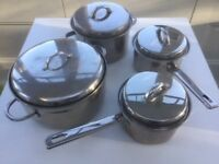 John Lewis quality stainless steel pans