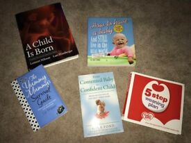 Various pregnancy and baby books - used but good condition