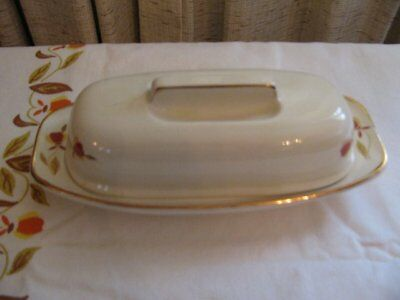 "HALL JEWEL TEA AUTUMN LEAF ""SMOOTH TOP BAR"" BUTTER DISH"