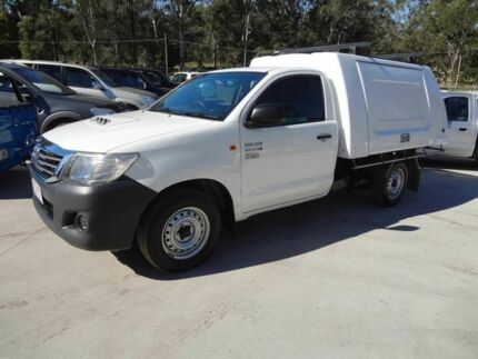 2012 Toyota Hilux KUN16R MY12 Workmate White 5 Speed Manual Cab Chassis Oxley Brisbane South West Preview