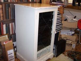 hi fi or display cabinet top opens for record deck cream shabby chic