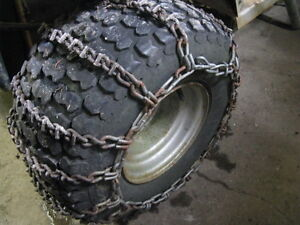 Lawn Tractor Tire Chains(Chains Only No Tires)