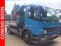 2009 Mercedes-Benz Atego 1318 DAY TIPPER GRAB, VERY RARE, LOW MILEAGE Diesel blu