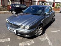 JAGUAR X TYPE 2005 2.0 DIESEL SE GREY FULL LEATHER ALLOYS 128 BHP HPI CLEAR 5 DOOR LUXURY CAR