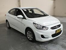 2013 Hyundai Accent RB2 Active White 4 Speed Automatic Sedan Gateshead Lake Macquarie Area Preview