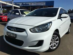 2011 Hyundai Accent RB Active White 4 Speed Automatic Hatchback Blacktown Blacktown Area Preview