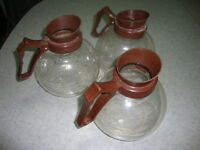 3-  (12 cup) GLASS CARAFE'S