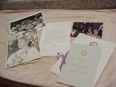 #198 SIGNED LETTER BY NANCY REAGAN JAMES BAKER IRAQ KENNEDY FLORIST DAVID JONES