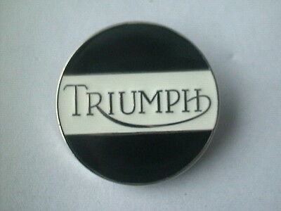 MOTORCYCLE PIN BADGE 'TRIUMPH' ROUND MOTORBIKE LAPEL BADGE - BG51