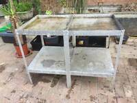 potting shed or green house metal table