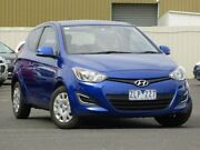 2012 Hyundai i20 PB MY12 Active Blue 4 Speed Automatic Hatchback Diggers Rest Melton Area Preview