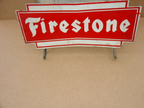 VIN FIRESTONE CAR TIRE DISPLAY STAND. 2 SIDES AND 2 WIRE STANDS