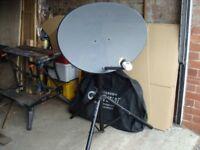 caravan/motorhome satellite dish and tripod stand.