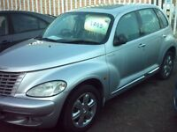chrysler pt cruiser silver fully loaded , 55 plate leather , manual £1495