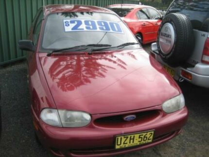1998 Ford Festiva WF Trio S Red 4 Speed Automatic Hatchback Tuncurry Great Lakes Area Preview