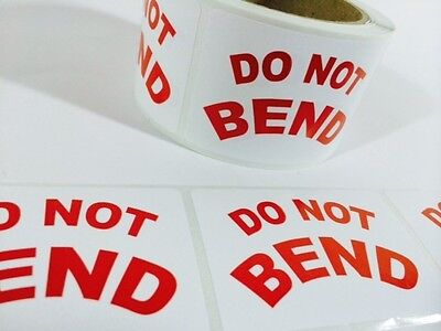 250 2 X 3 Do Not Bend Label Sticker Peel And Stick Labels 250 2 X 3 Do Not Bend