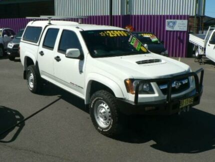 2009 Holden Colorado RC MY10 LX (4x4) White 4 Speed Automatic Crew Cab P/Up