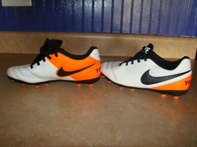 cf1a195de Nike Tiempo Soccer Shoes Cleats Size 6 Orange   White