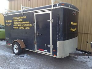 Stolen Black Inclosed 10 Ft long Trailer  Buyer Be Where