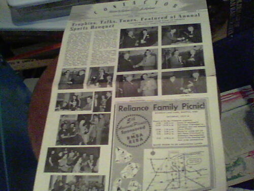 June 1952 Contactor Reliance Electric newsletter Ashtabula Sports Banquet, Crown
