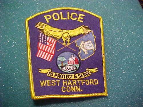WEST HARTFORD CONNECTICUT POLICE PATCH SHOULDER SIZE UNUSED
