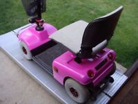 Pink Heavy Duty Shoprider Deluxe Mobility Scooter Any Terrain Was £2200 Now Only £395