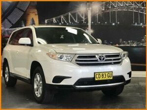 2011 Toyota Kluger GSU40R MY11 KX-R White 5 Speed Sports Automatic Wagon Prospect Blacktown Area Preview