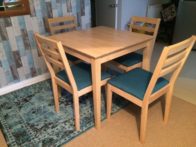 Extendable Beech Dining Table And Chairs In Oakwood West - Extendable beech dining table