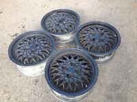 "BBS RA 4x100, 15"", 6J. Alloy wheels, deep dish Original Made in Germany. not brabus, ats, AEZ"