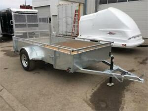 5X10 Hot Dip Galvanized Utility Trailers - Contractor Grade