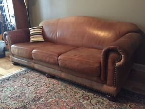 Leather Couch - custom built