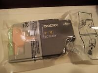 Genuine Brother Printer Cartridge LC1240Y, Yellow