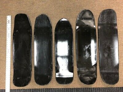 "SKATEBOARD DECKS, 8.5""-9.25"" BLACK Park shapes(5 or 10 Pack)USA made($9.99 each)"