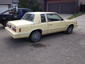 Immaculate Plymouth Reliant K Car Coupe Still Available