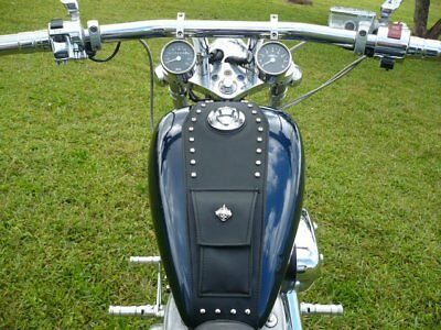 Vlx Shadow (Honda Shadow VLX 600 VLX600 Tank Bib Bra POCKET+ STUDS + YOU CHOOSE EMBLEM )