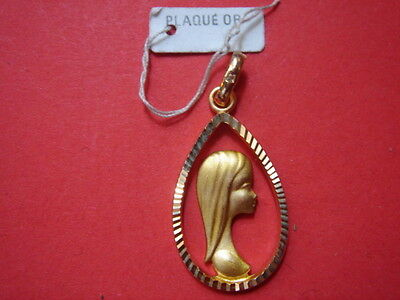 Very Belle Medal Gold Plated Virgin Marie Vintage 1960/70 New / New Medal