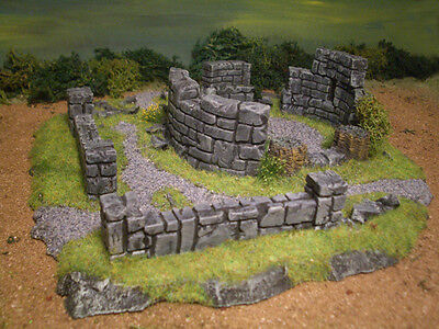 10 piece Wall Set Thomarillion Unpainted Ceramic Dwarven Forge D&D