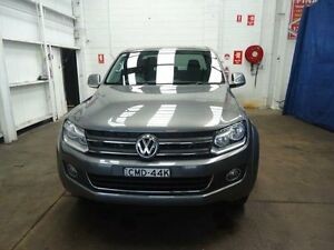 2012 Volkswagen Amarok 2H MY12.5 TDI420 Highline (4x4) Grey 8 Speed Automatic Dual Cab Utility Cardiff Lake Macquarie Area Preview
