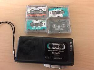 Sony M-505 Microcassette-corder